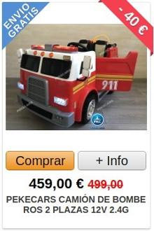 Comprar Camión de Bomberos Eléctrico para Niños