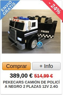 Comprar Camión de Policía Eléctrico para Niños